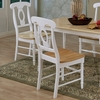 Coaster Fine Furniture Set of 2 Natural/White Side Chair