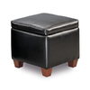 Coaster Fine Furniture Black Square Storage Ottoman