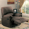 Coaster Fine Furniture Chocolate Polyester Gliding Recliner