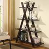 Coaster Fine Furniture Cappuccino 47.25-in W x 59-in H x 14.25-in D 4-Shelf Bookcase