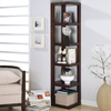 Coaster Fine Furniture Cappuccino 15.5-in W x 75-in H x 15.5-in D 5-Shelf Bookcase