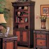 Coaster Fine Furniture Tate Black/Cherry 37-in W x 74-in H x 15-in D 4-Shelf Bookcase