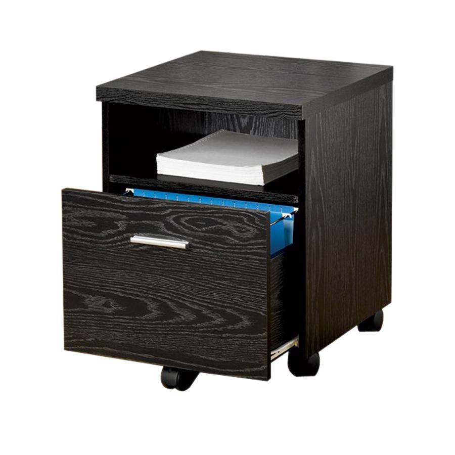 Shop Coaster Fine Furniture Black 1-Drawer File Cabinet at ...