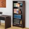 Coaster Fine Furniture Cappuccino 31.5-in W x 70.75-in H x 11.75-in D 4-Shelf Bookcase