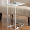 Coaster Fine Furniture Chrome Rectangular End Table