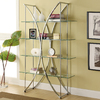 Coaster Fine Furniture Chrome 48-in W x 72-in H x 16-in D 4-Shelf Bookcase