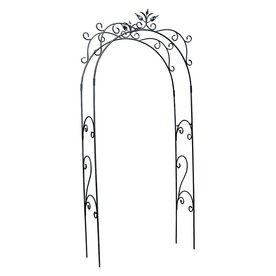 ACHLA Designs Tuileries 4-ft W x 9-ft 5-in H Black Garden Arbor