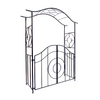 ACHLA Designs Tuscany 5-ft 6-in W x 7-ft H Graphite Garden Arbor