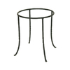 ACHLA Designs 14-in Black Indoor/Outdoor Round Wrought Iron Plant Stand