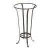 ACHLA Designs Tulip 28-in Roman Bronze Indoor/Outdoor Round Wrought Iron Plant Stand