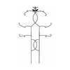 ACHLA Designs Tendrils 46-in W x 84-in H Black Trellis