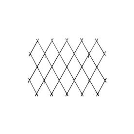 ACHLA Designs 67-in W x 43-in H Graphite Trellis