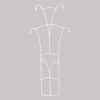 ACHLA Designs Leaf Tower 22-in W x 71-in H Ivory Trellis