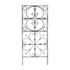 ACHLA Designs Aldrich 31.5-in W x 75-in H Graphite Scroll Trellis