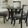 Steve Silver Company Cayman Black Round Dining Table