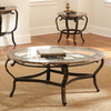 Steve Silver Company Gallinari Brown Oval Coffee Table