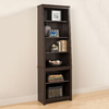 Prepac Furniture Espresso 26.25-in W x 80-in H x 14.25-in D 6-Shelf Bookcase