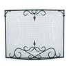 ACHLA Designs 33-in Black Iron Scroll Fireplace Screen