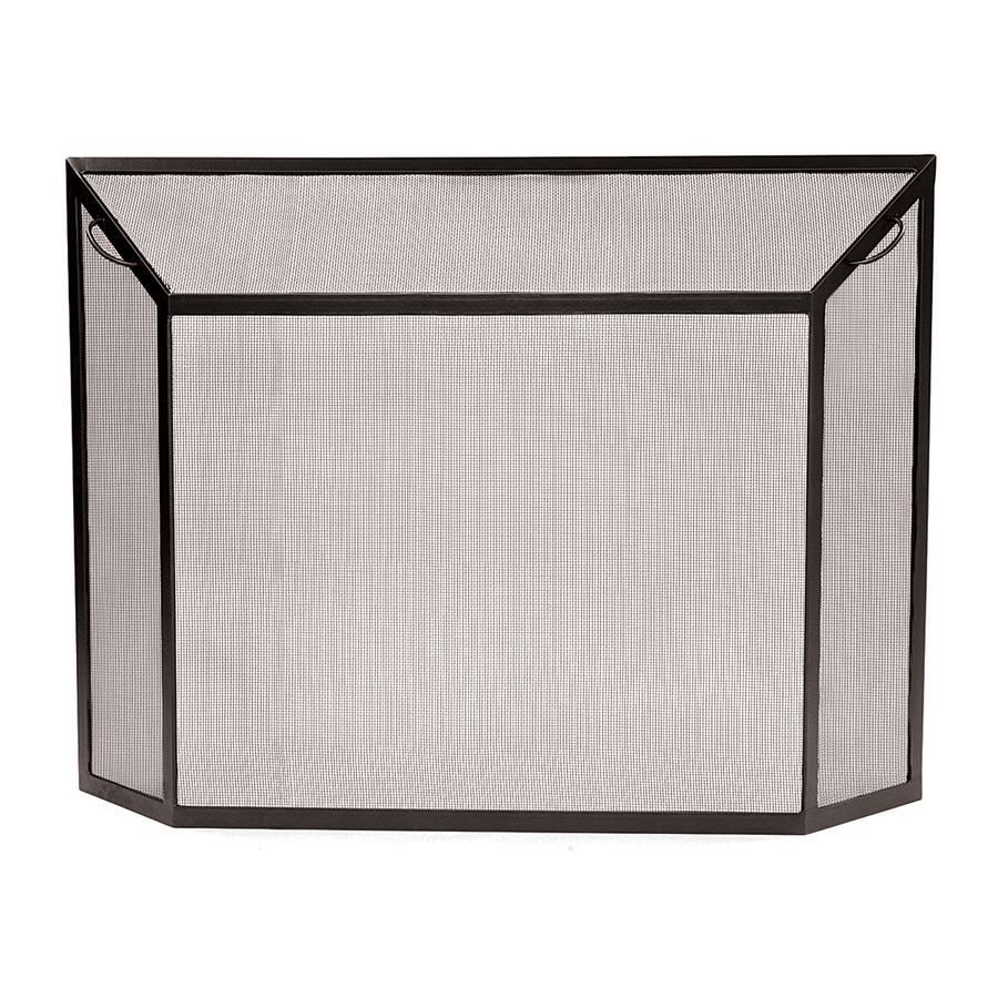 achla designs 50 in graphite iron flat fireplace screen at