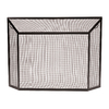 ACHLA Designs 50-in Graphite Iron Flat Fireplace Screen
