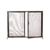 ACHLA Designs 38-in Graphite Iron Flat Twin Fireplace Screen