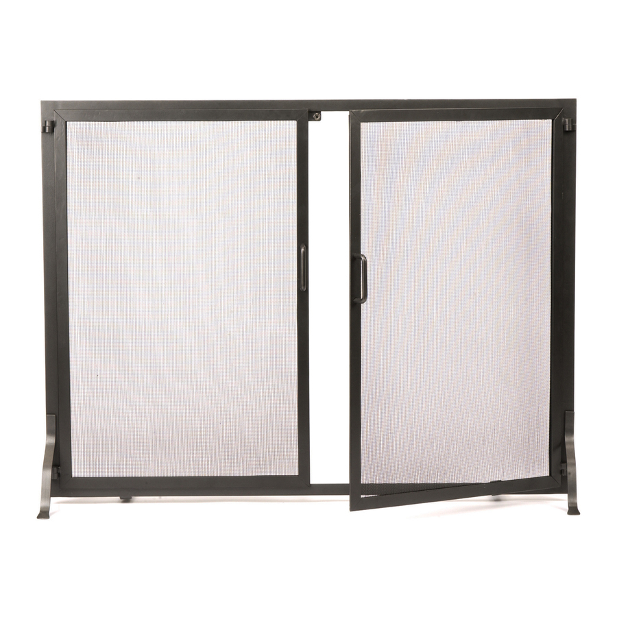 designs 44 in graphite iron flat twin fireplace screen at