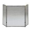 ACHLA Designs 52-in Black Steel 3-Panel Flat Fireplace Screen