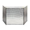 ACHLA Designs 82-in Black Steel 3-Panel Flat Fireplace Screen