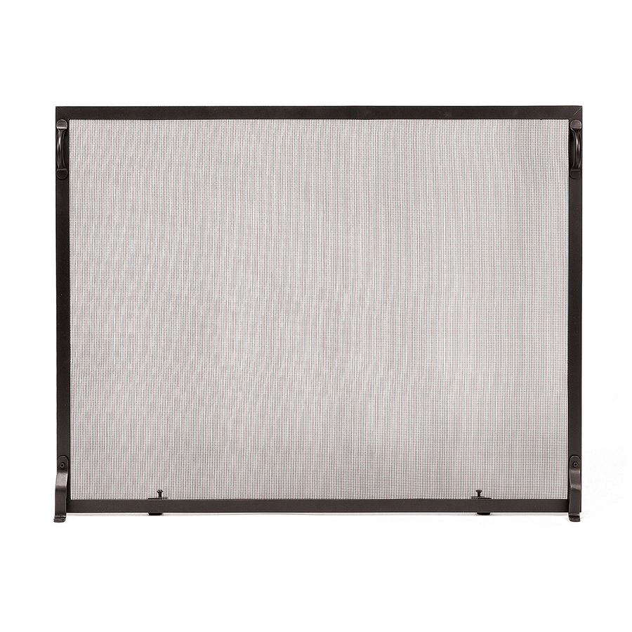 achla designs 38 in graphite iron flat fireplace screen at