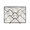 ACHLA Designs 44-in Black Iron Flat Fireplace Screen