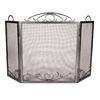 ACHLA Designs 55-in Graphite Iron 3-Panel Scroll Fireplace Screen