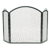 ACHLA Designs 58-in Graphite Iron 3-Panel Arched Fireplace Screen