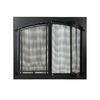 ACHLA Designs 38-in Graphite Iron 4-Panel Arched Bi-Fold Fireplace Screen