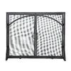 ACHLA Designs 39-in Black Iron Flat Twin Fireplace Screen