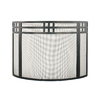 ACHLA Designs 32-in Black Iron Flat Fireplace Screen