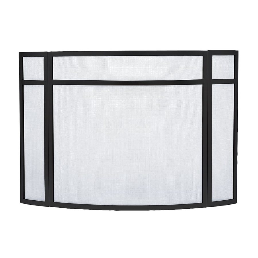 shop achla designs 48 in black iron flat fireplace screen at