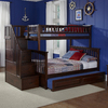 Atlantic Furniture Columbia Antique Walnut Twin Over Full Bunk Bed