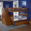Atlantic Furniture Columbia Carmel Latte Full Over Full Bunk Bed