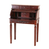 International Caravan Carved Wood Stain Secretarial Desk