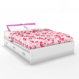 Sonax Willow Frost White Full Platform Bed with Storage