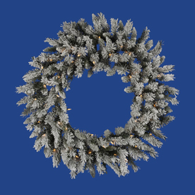 Vickerman 36-in Pre-Lit Pine Artificial Christmas Wreath with White Incandescent Lights