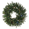 Vickerman 30-in Pre-Lit Artificial Christmas Wreath with Multicolor LED Lights