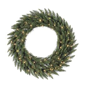 Vickerman Pre-Lit 96-in Camdon Fir Artificial Christmas Wreath with 1000-Count Incandescent Lights