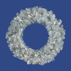 Vickerman 24-in Pre-Lit Artificial Christmas Wreath with White Incandescent Lights