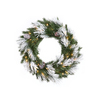 Vickerman 30-in Pre-Lit Pine Artificial Christmas Wreath with White Incandescent Lights