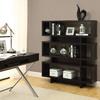 Monarch Specialties Cappuccino 47.25-in W x 54.5-in H x 11.66-in D 3-Shelf Bookcase