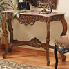 Design Toscano Antique Mahogany Rectangular Console and Sofa Table