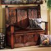 Design Toscano Antique Mahogany Indoor Entryway Bench with Storage