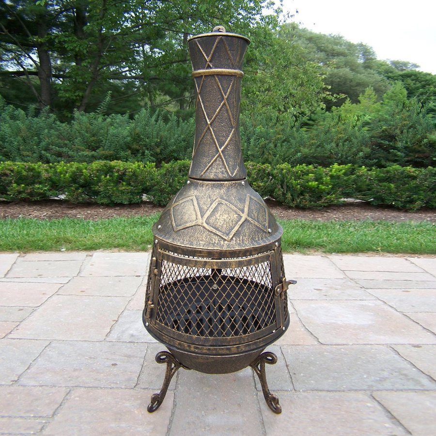 Shop Oakland Living Antique Bronze Cast Iron Outdoor Wood Burning Fireplace At