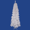 Vickerman 4.5-ft Indoor Pine Pre-Lit White Salem Pencil Artificial Christmas Tree with Multicolor Lights